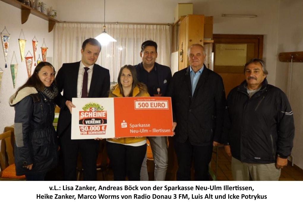 2017 Scheine für Vereine-Scheck-Unterschriften
