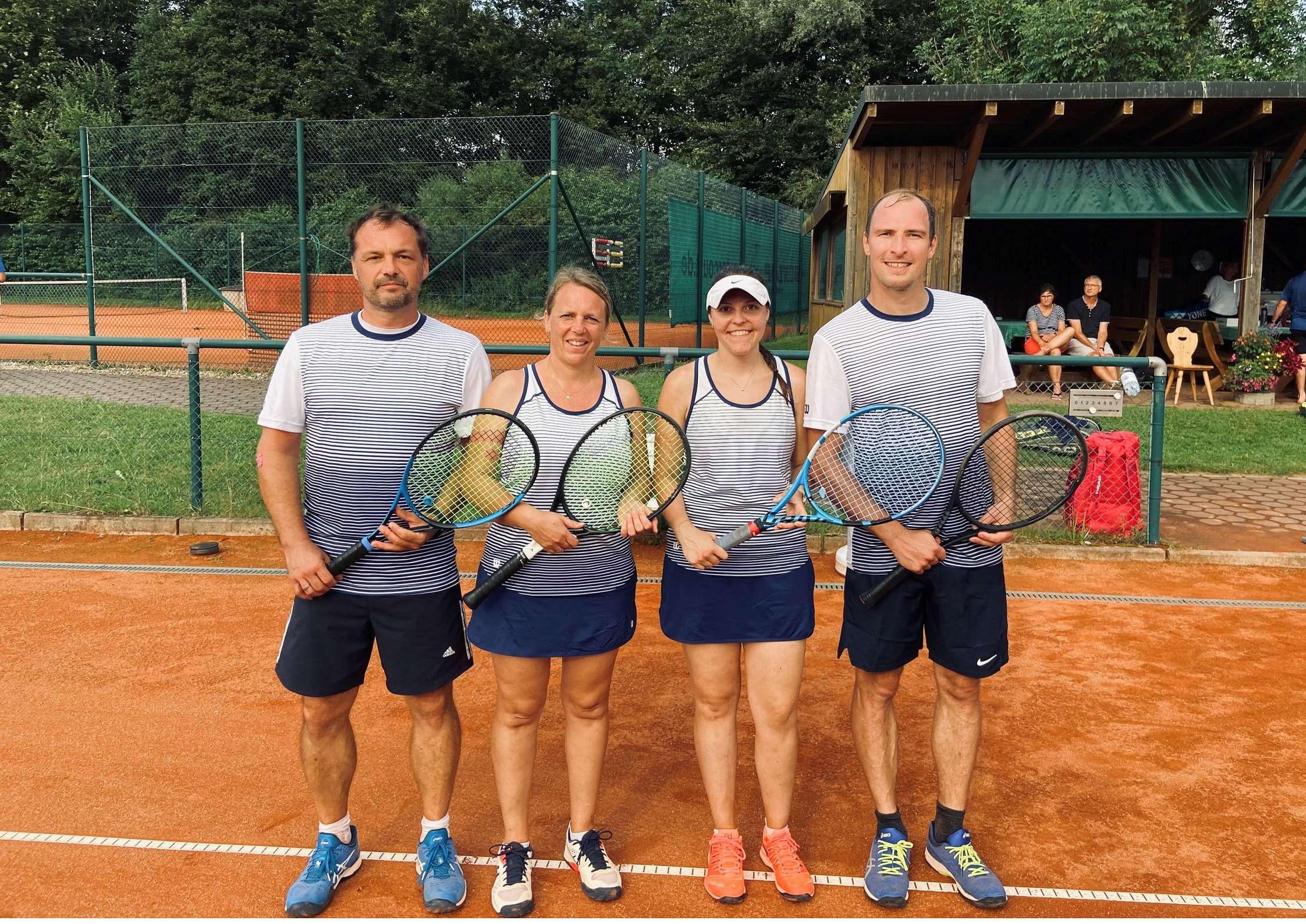 v.l.: Steven und Nadine Potrykus, Lisa Zanker, Andreas Prestele